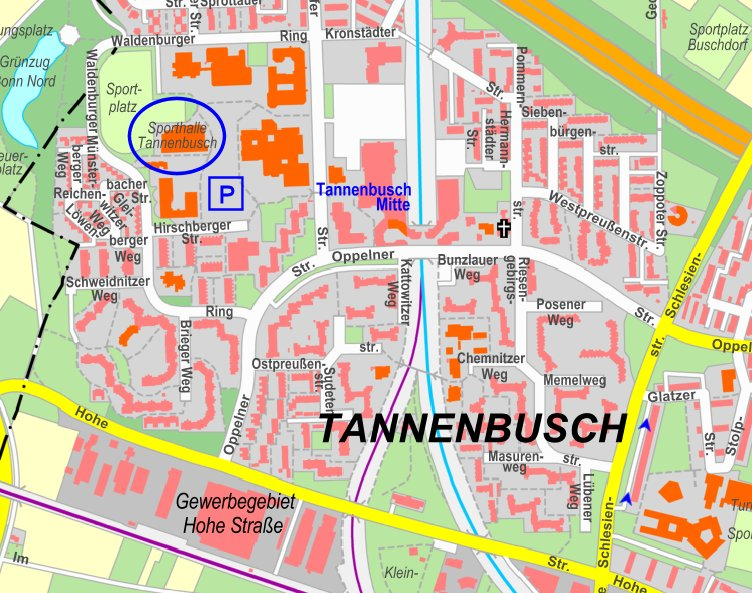 Sporthalle des Schulzentrums Bonn-Tannenbusch